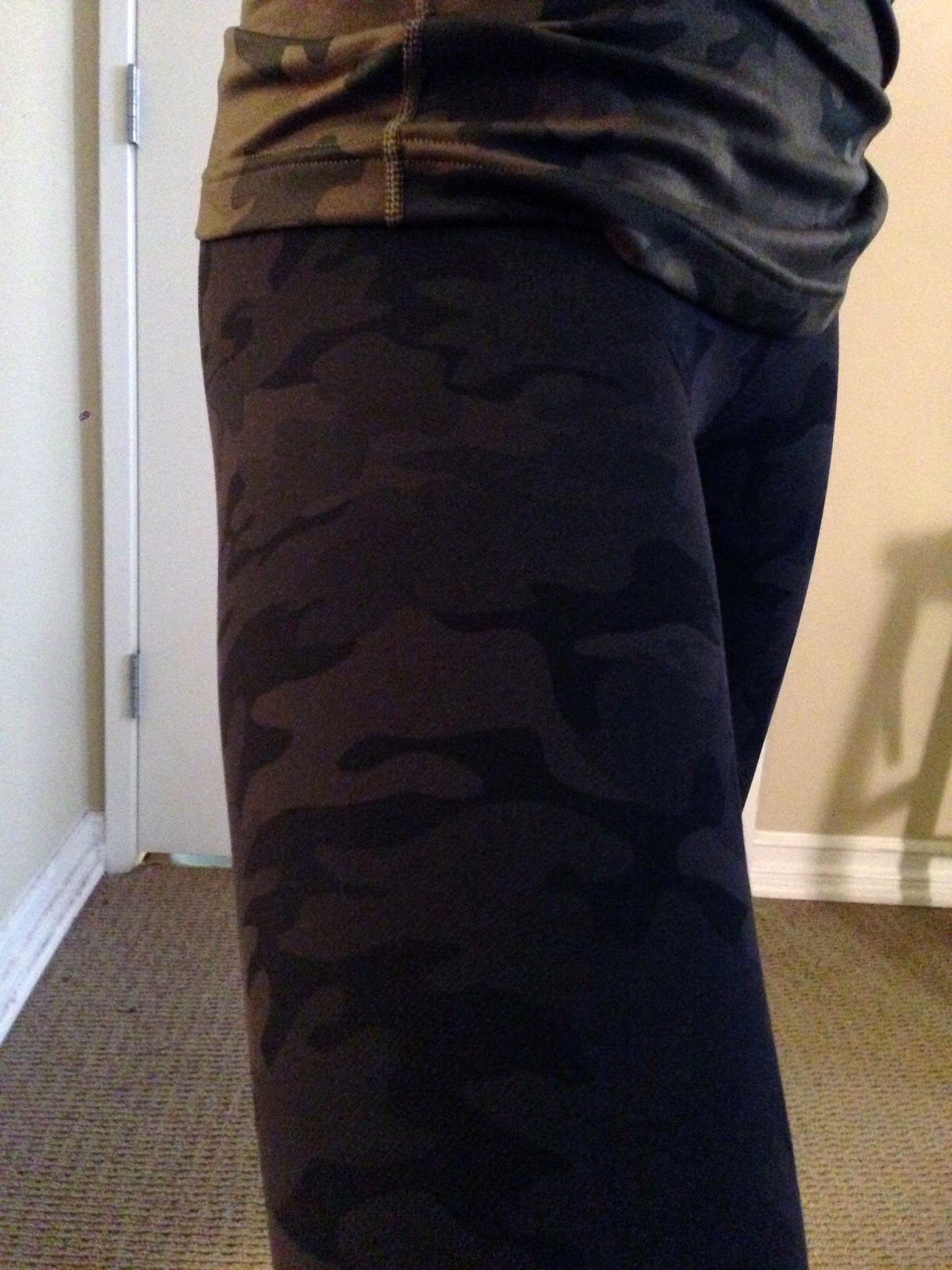 05fc67ce23bed9 It's subtle but definitely noticeable. Very cool looking! I can't wait to  wear them. The fatigue camo cool racerback has high polyester ... Lululemon  Green ...