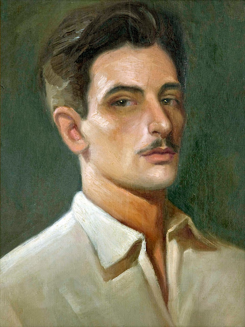 Antonio Padrón, Self Portrait, Portraits of Painters, Fine arts, portraits of painters blog, Paintings of Antonio Padrón, Painter Antonio Padrón