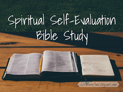 Free Printable Spiritual Self-Evaluation Bible Study | scriptureand.blogspot.com