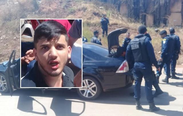 Foragido é preso após intensa fuga em carro de luxo e acidente em Porto Velho