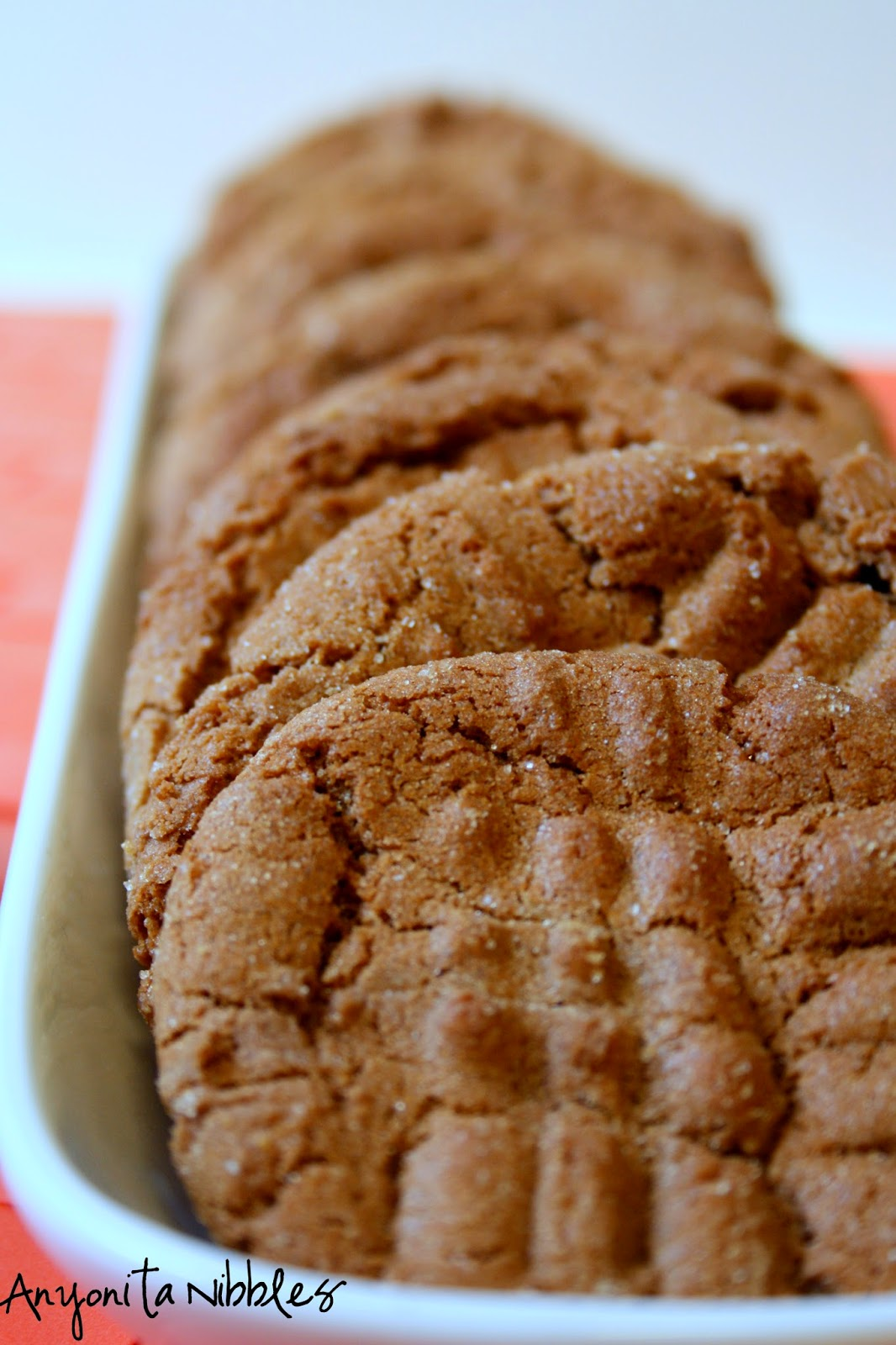 Close up of crunchy #peanutbutter #nutella #cookies