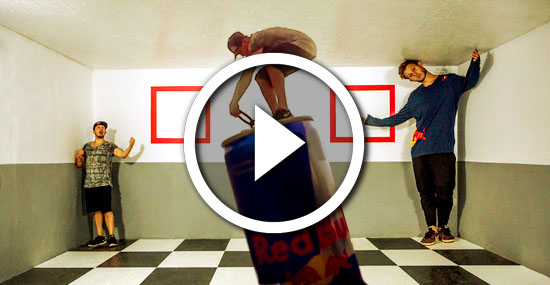 Os Incríveis truques de ilusão de ótica da Red Bull que desafiam a realidade