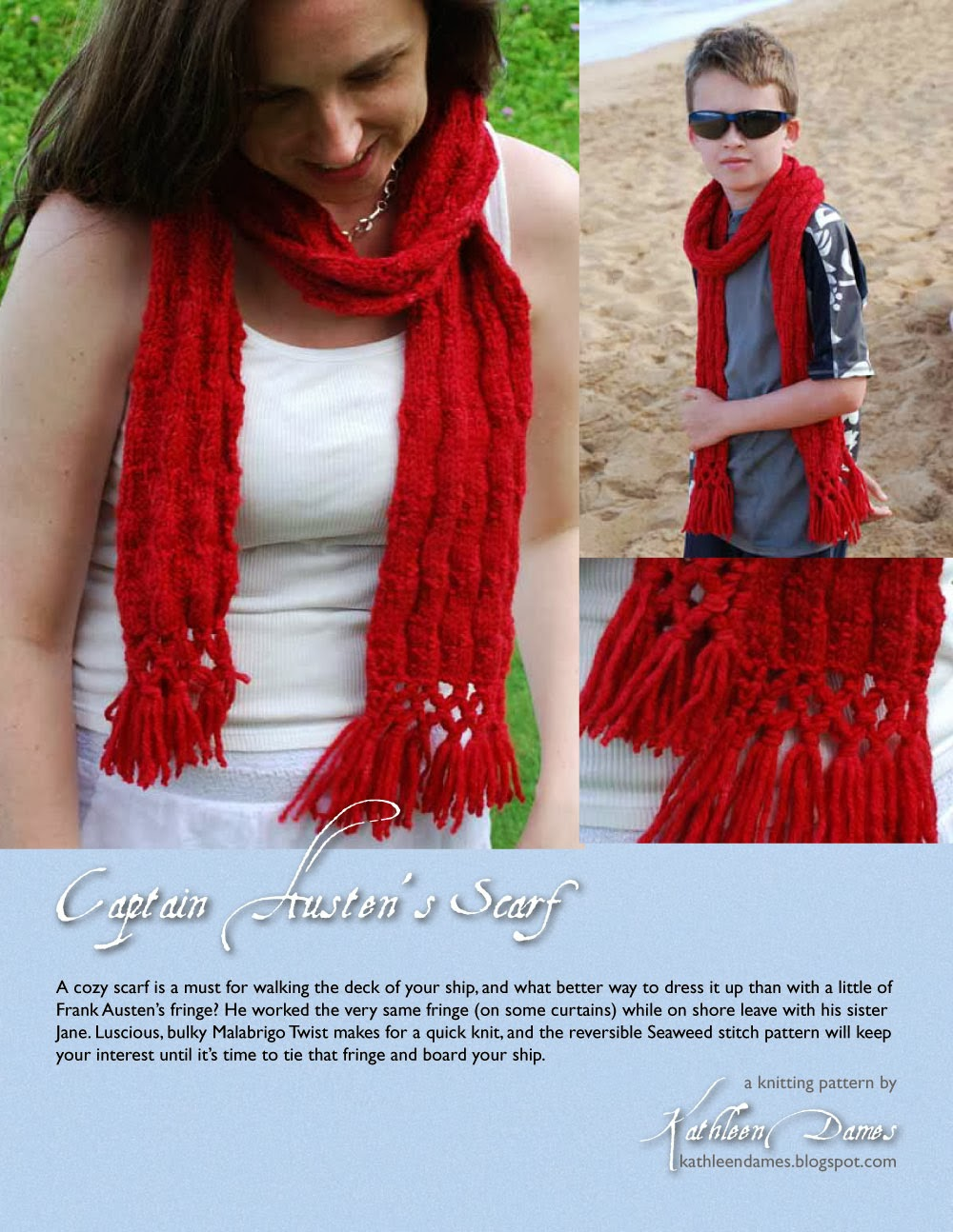 unisex scarf with fringe