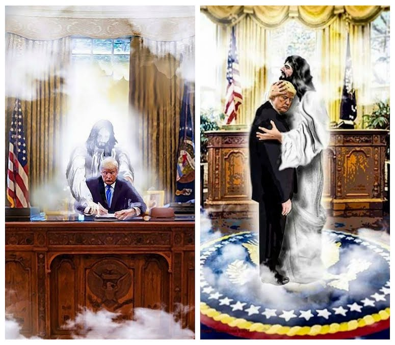Trump and Jesus in the Oval Office - Terrible Art