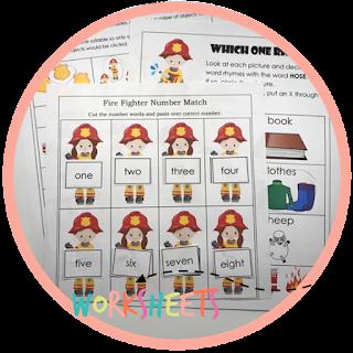 fire safety kindergarten worksheets