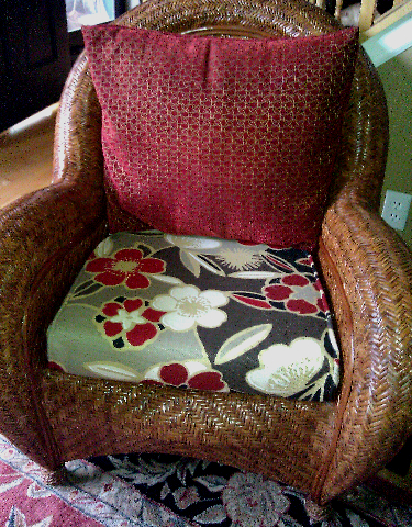 diy chair cushion no sew z line executive almost box cushions sweetwater style last week i covered the for chairs in living room did whole nine yards zippers and welting