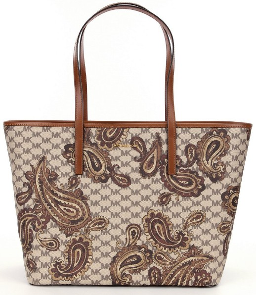 1295d6a07279 Michael Kors Studio Emry Large Heritage Paisley Tote Retail Price: USD378.  Price: RM2160. Colour: Luggage, Black, Navy