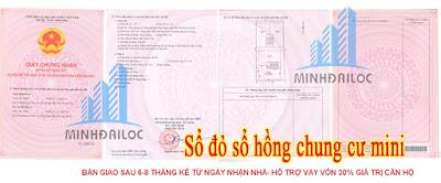 sổ hồng chung cư Minh Đại Lộc 1