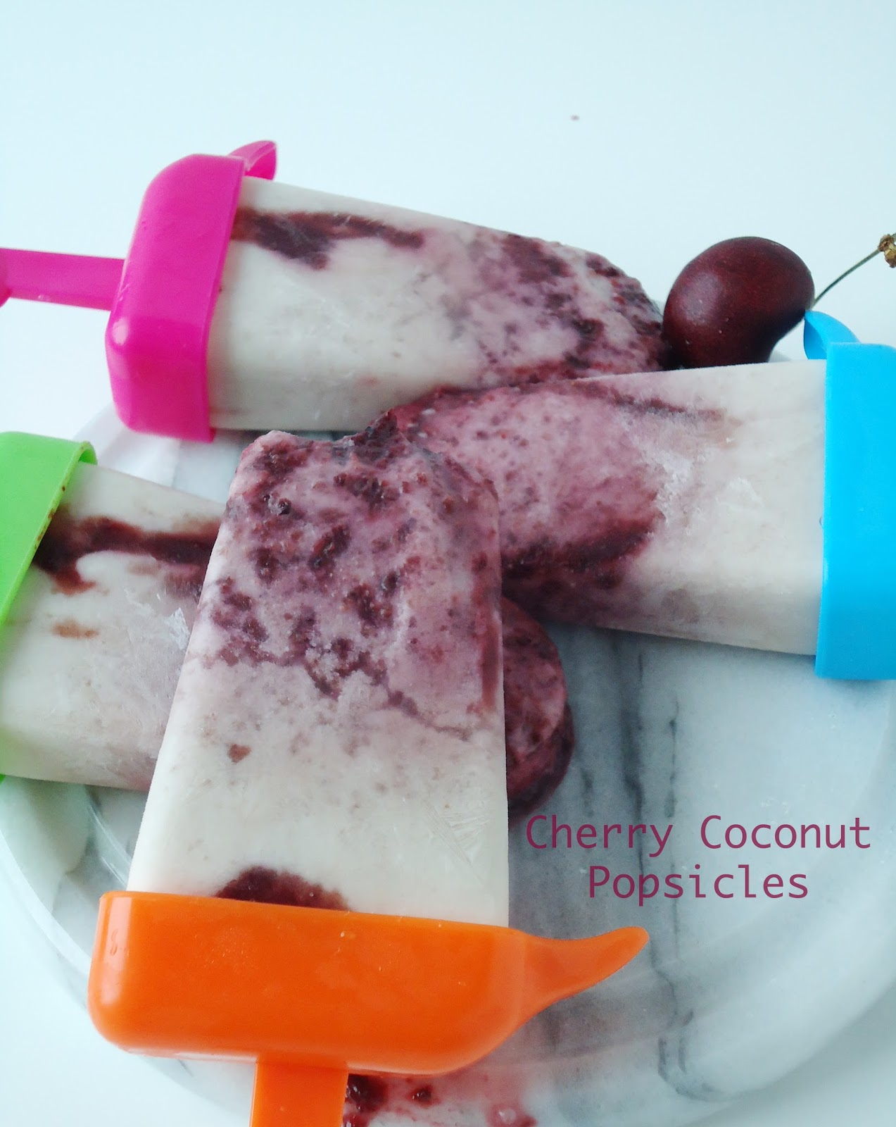 Cherry Coconut Popsicles|www.blahnikbaker.com