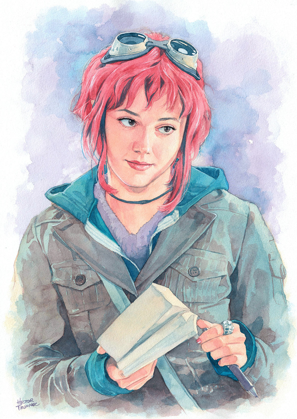 Watercolor Portrait Illustrations By Hector Trunnec