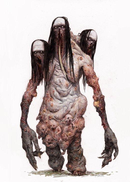 Adrian Smith artstation arte ilustrações fantasia terror sombrio games