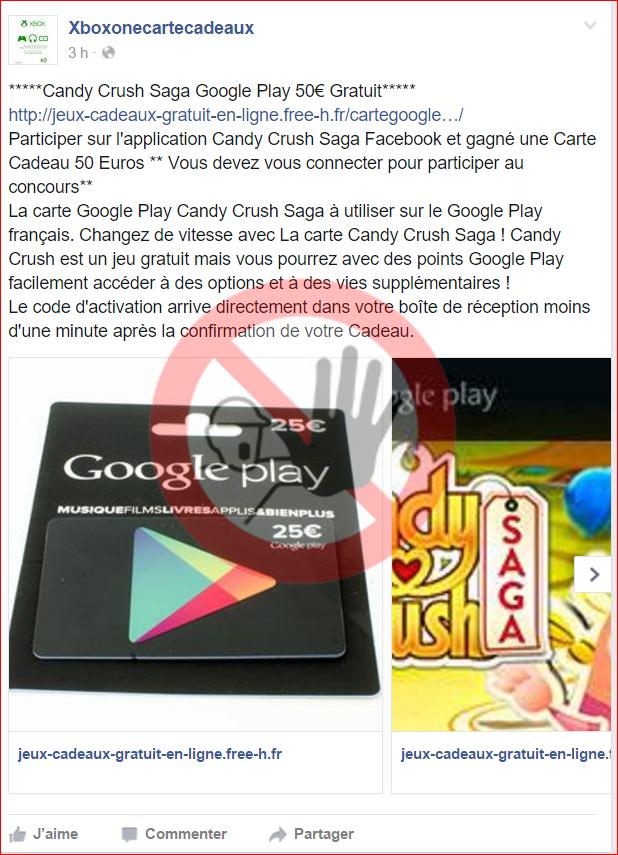 Arnaque à La Carte Cadeau Google Play En Utilisant Une Copie