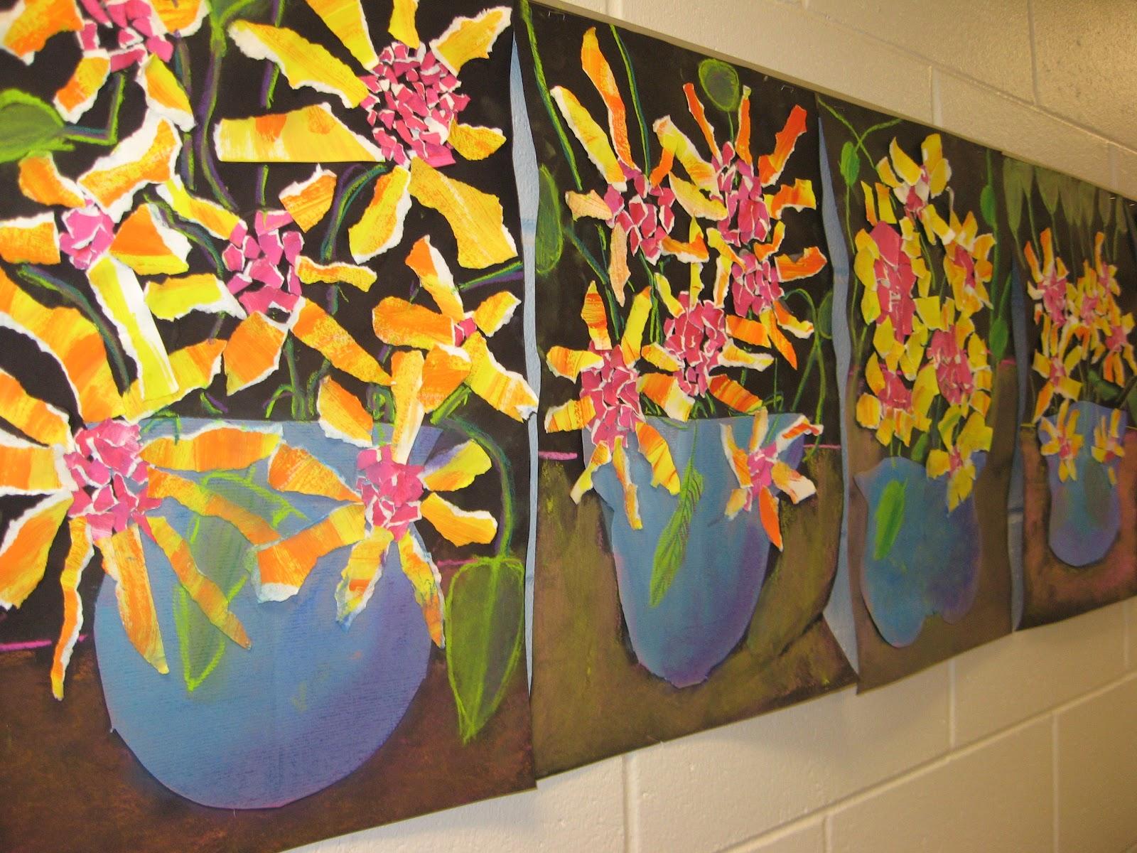 Jamestown Elementary Art Blog 2nd Grade Van Gogh Sunflowers