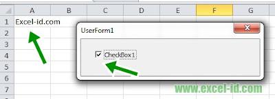 Mengisi Cell dengan CheckBox pada UserForm