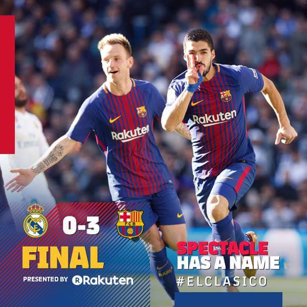 Video:-Download Real Madrid 0-3 Barcelona (La Liga) Highlights