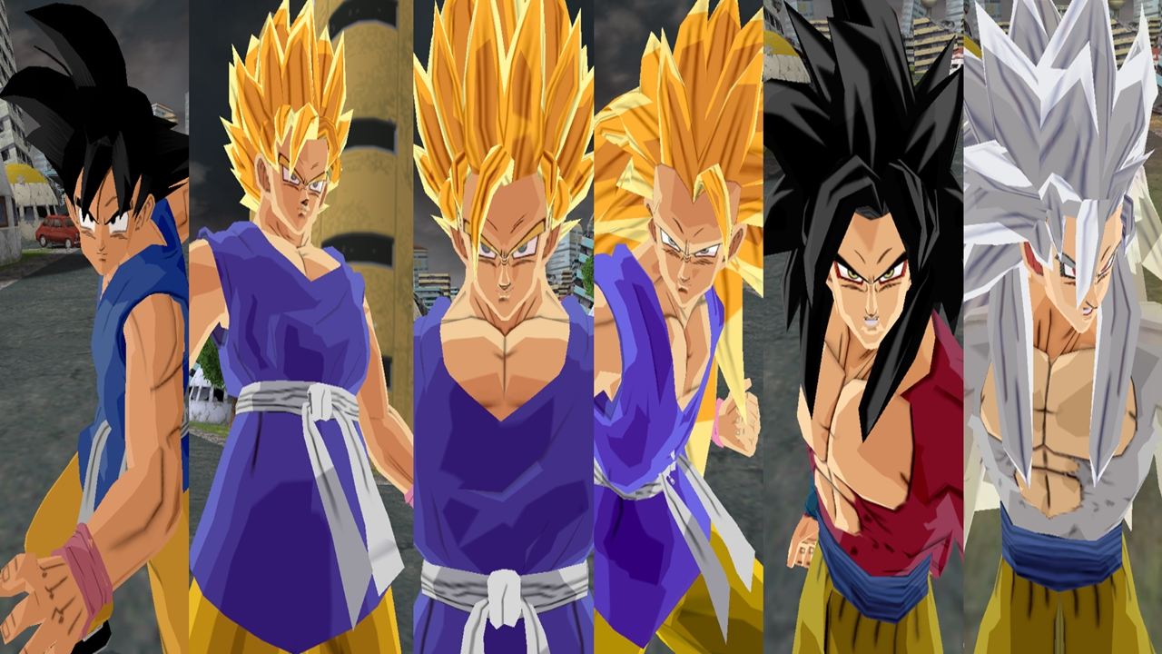 ADULT GOKU GT ALL FORMS & mods dbz BR: ADULT GOKU GT ALL FORMS