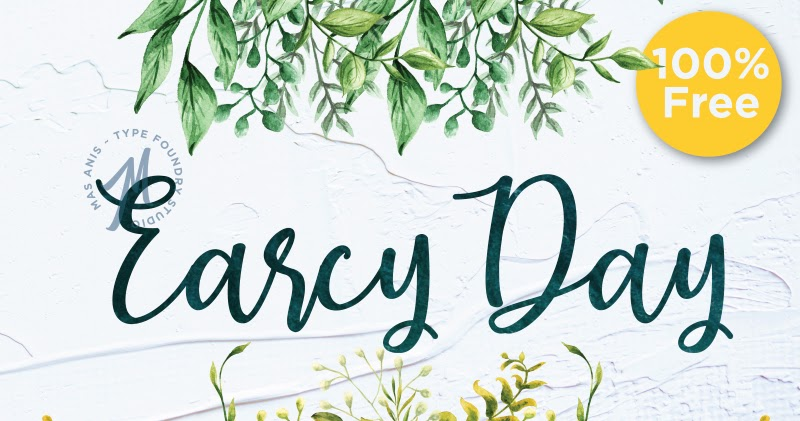Earcy Day Calligraphy Font Free Download   Free Script Fonts