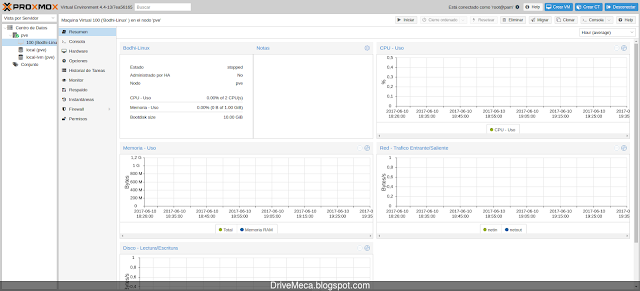 Creando maquina KVM en Proxmox VE