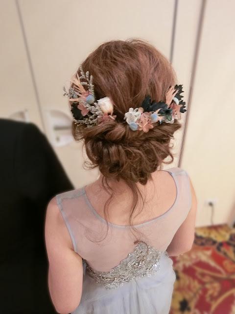 乾燥花造型 | 新娘乾燥花造型 | 乾燥花髮型 | 乾燥花盤髮