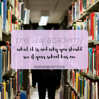 What is a pre-law academy and should you sign up for one before applying to law school? Click here to learn more about this prelaw program! | brazenandbrunette.com
