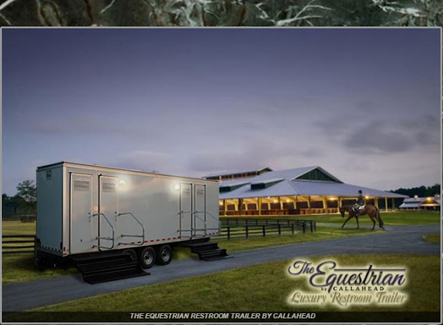 The Equestrian - One of  Callahead's Luxury Portable Restroom Trailers