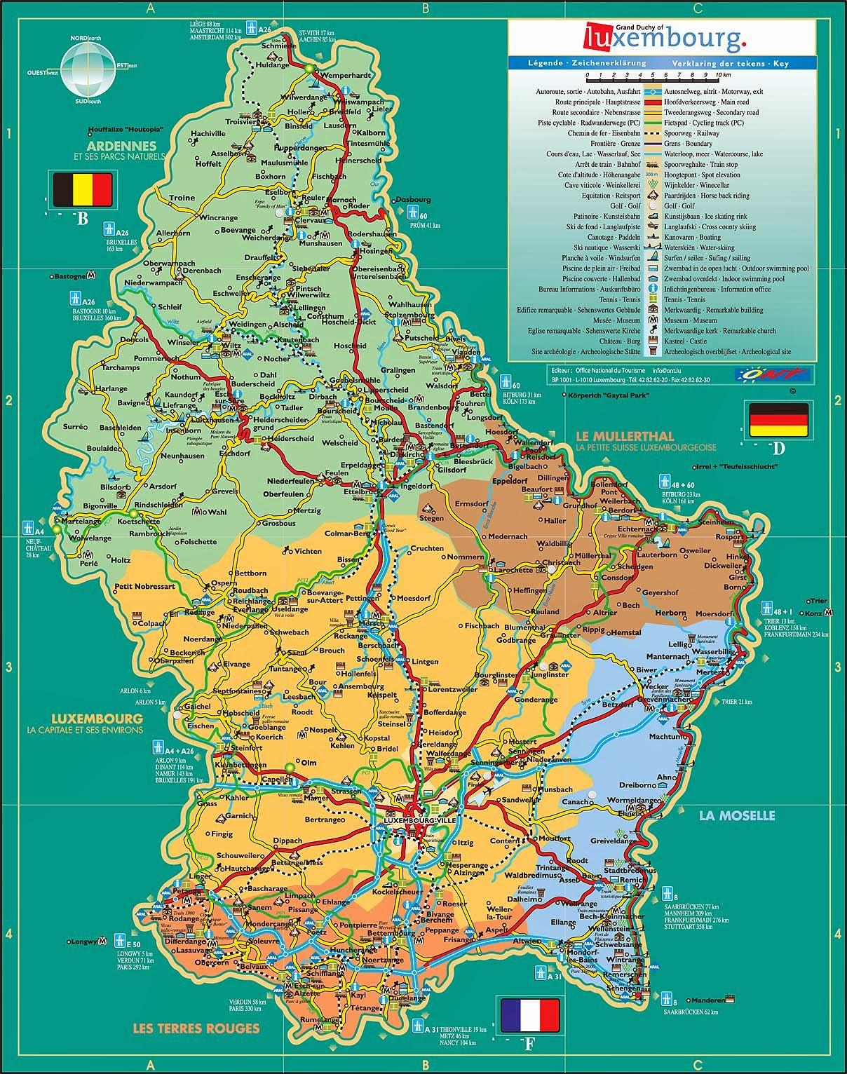 Mapas Da Cidade De Luxemburgo Mapasblog