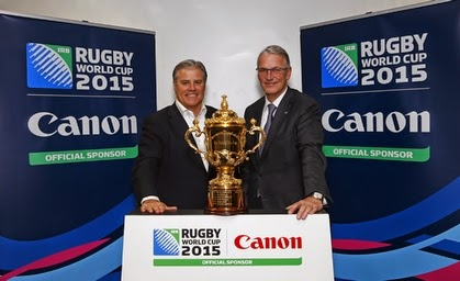 Canon appointed Rugby World Cup 2015 sponsor