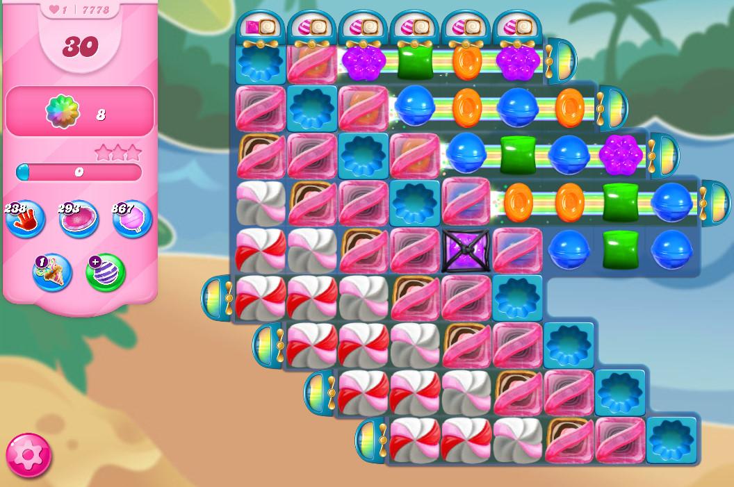 Candy Crush Saga level 7778