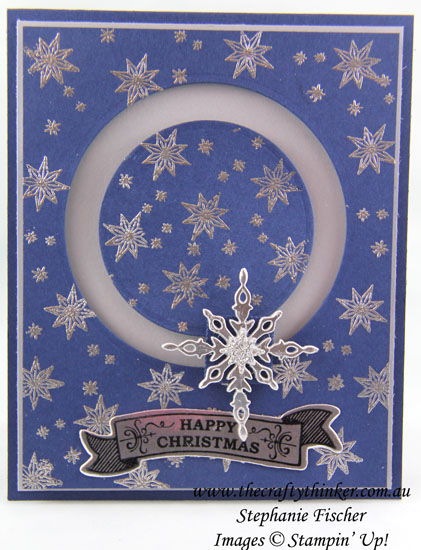 #thecraftythinker, Stampin Up, Spinner Card, Slider Card, Christmas, Star of Light, Xmas, Stampin Up Australia Demonstrator, Stephanie Fischer, Sydney NSW