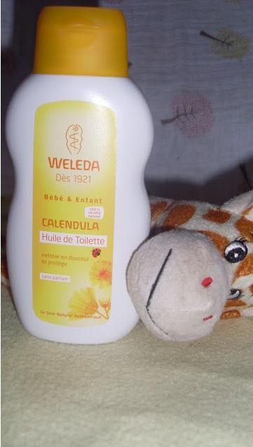 huile de toilette pour bébé