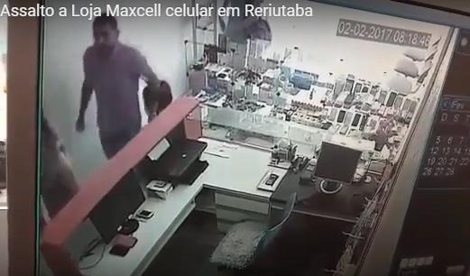Vídeo bandidos assaltando