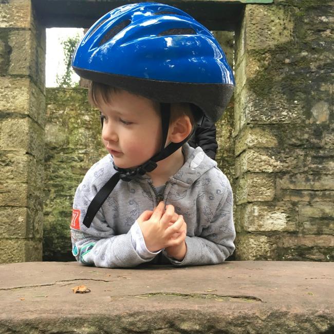 our-weekly-journal-new-year-new-routine-boy-in-cycle-helmet-in-ruins-at-cefn-onn-park