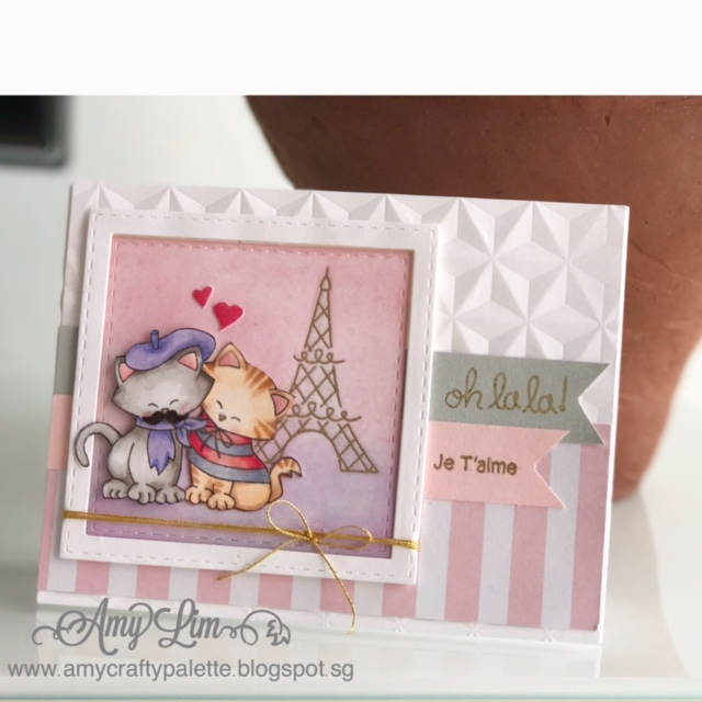 French Cat Card featuring Newton Dreams of Paris by Newton's Nook Designs, #newtonsnook