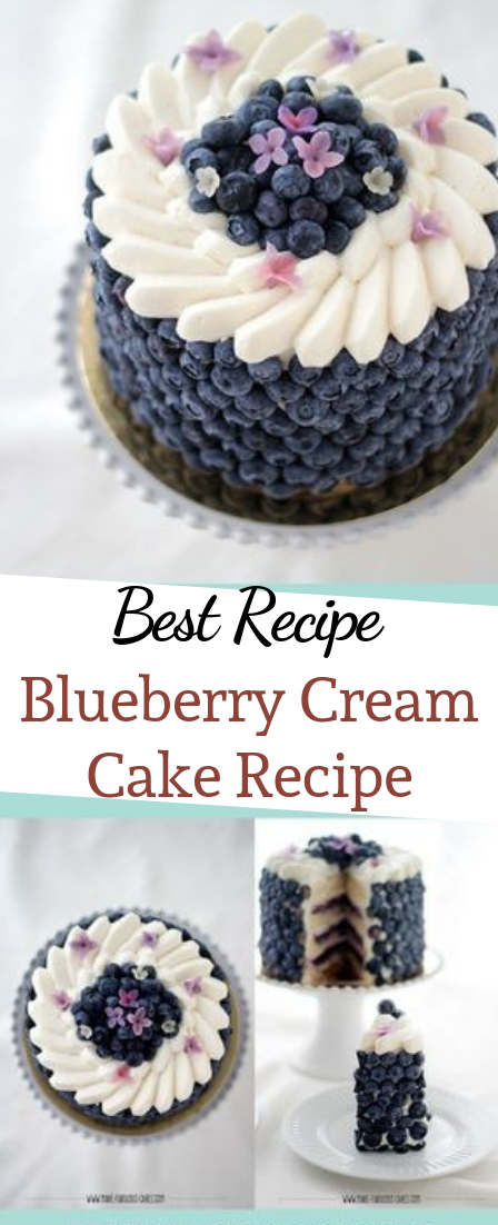 Blueberry Cream Cake Recipe #cake #dessert
