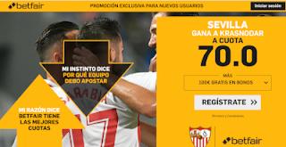 betfair supercuota Europa League Sevilla gana Krasnodar 4 octubre