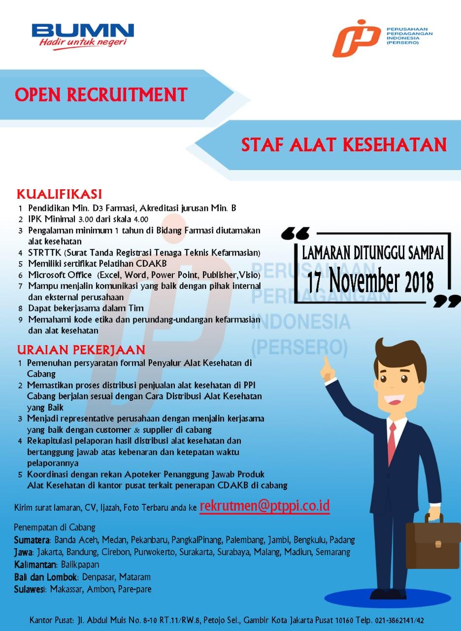 Lowongan Kerja Pt Perusahaan Perdagangan Indonesia Persero Rekrutmen Dan Lowongan Kerja Bulan Februari 2021