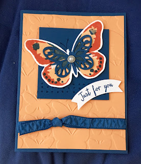 Card using Stampin' Up! butterfly stamps