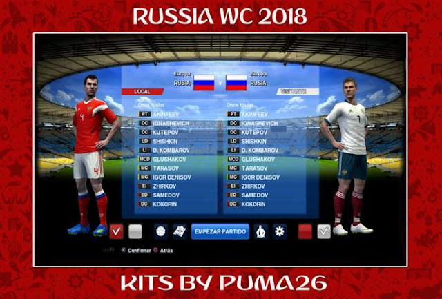 Russia World Cup 2018 Kit PES 2013