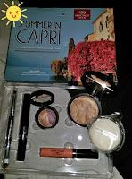 Summer in Capri body frosting face Tahitian glow eyeshadow rome milan melon infusion glamlash mascara