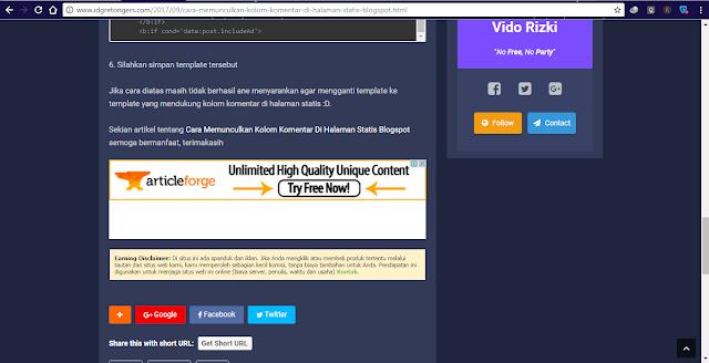 Cara Memasang Banner Earning Disclaimer Di Bawah Postingan Blog