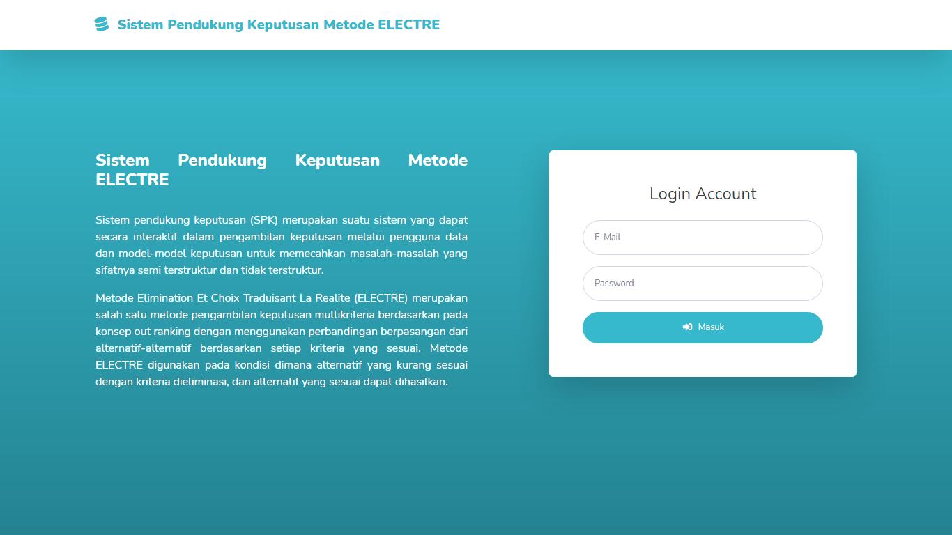 Aplikasi Sistem Pendukung Keputusan Seleksi Calon Mahasiswa Baru Menggunakan Metode ELECTRE - SourceCodeKu.com