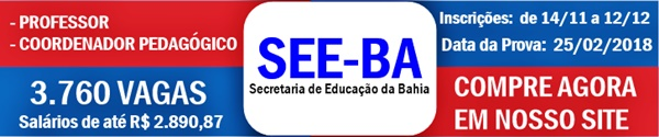 Apostila Concurso SEE-BA 2018 Professor e Coordenador Pedagógico