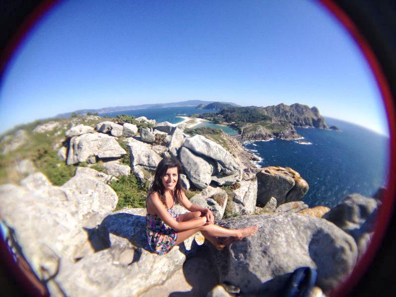 Vistas panorámicas desde Alto do Príncipe en Islas Cíes