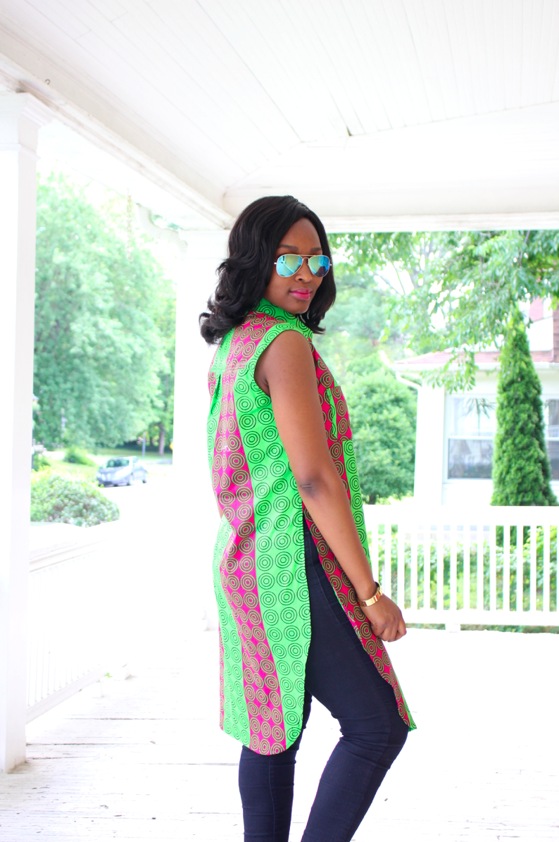 My Style Oasis, Button Down Side-Slit Ankara Tunic
