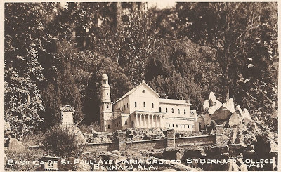 Postcard of Ave Maria Grotto Cullman, AL