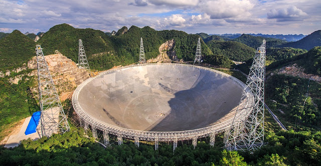 Five Hundred Meter Aperture Spherical Telescope  Image Credit & Copyright: Jeff Dai (TWAN)