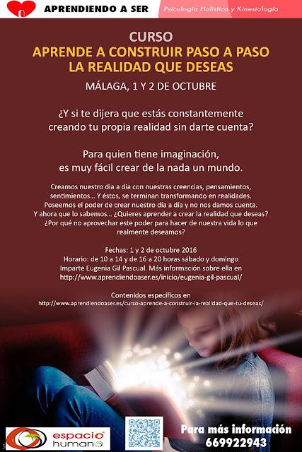 curso aprender crear realidad, como crear realidad que deseo, como hacer sueños realidad, curso crear realidad, curso Málaga aprende a crear la realidad, ÚLTIMOS ARTÍCULOS PUBLICADOS,