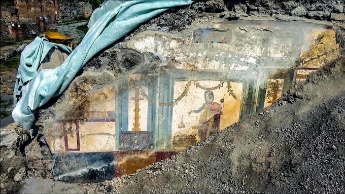Πομπηία: Ανακαλύφθηκε «Νέα τοιχογραφία της ευημερίας» στο σπίτι του Πρίαπου