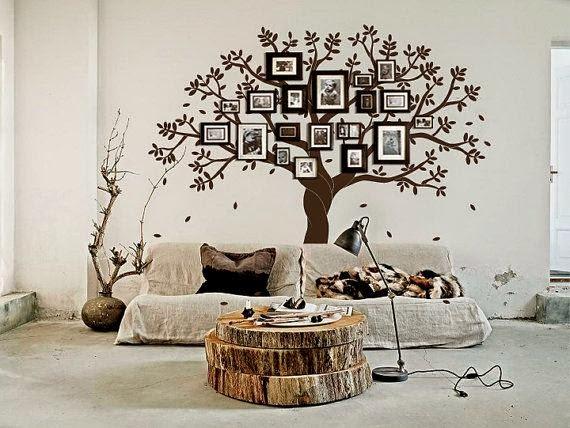 Zigzagzon rboles geneal gicos en paredes for Como pintar un mural en una pared