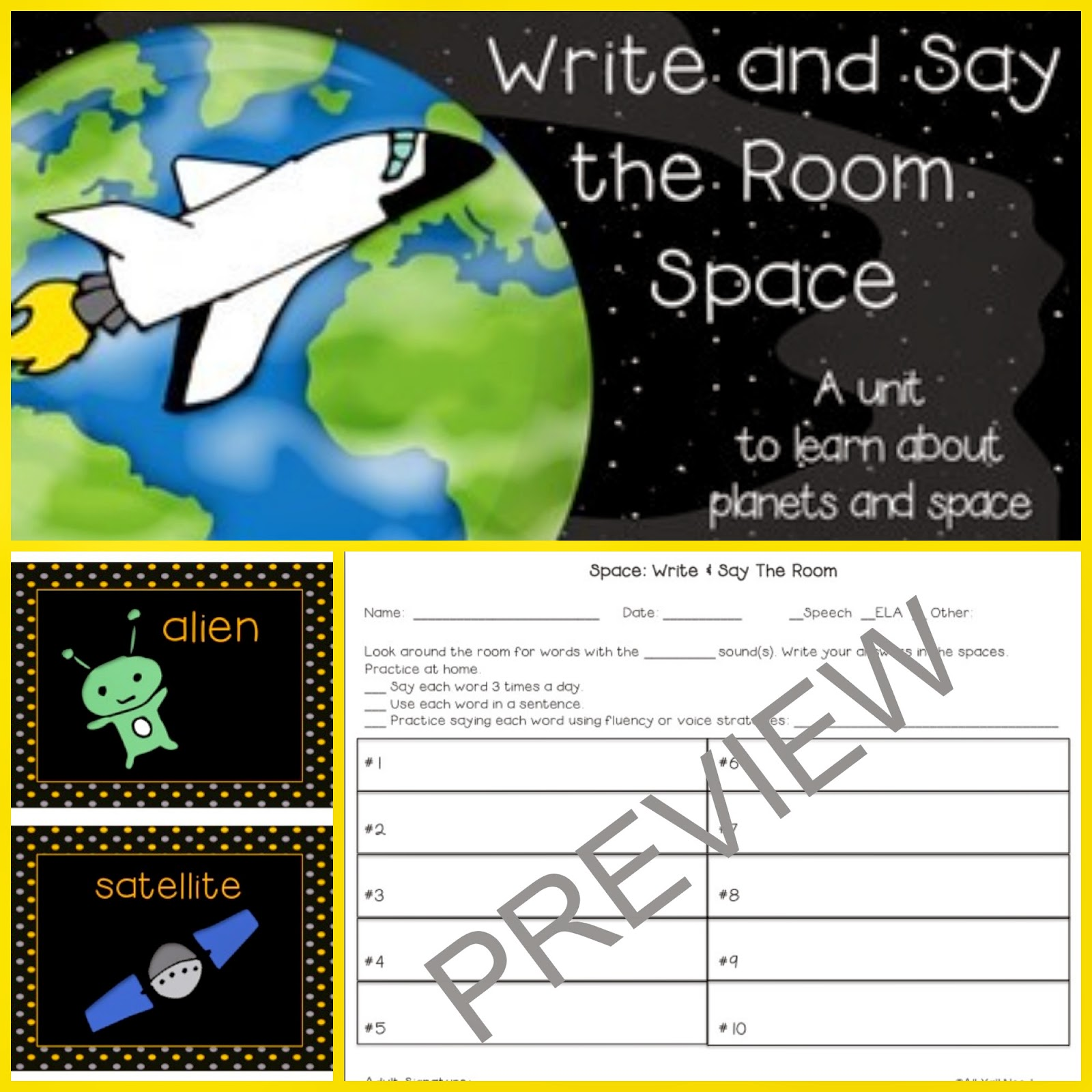 Write and Say the Room: Space by All Y'all Need